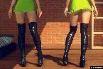 Overknee stockelschuhe und kurze kleider in live sex spiele