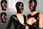Gummi maske sex und latex kleidung in bdsm schmerzhafte spiele