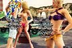 Kurvige kuken in bikinis fordern einige schwanz