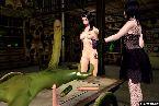 Zwei schlampe in phantasie rolle hentai monster schwanz lutschen