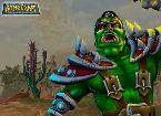 Grunes monster soldat kampft in einem kosmischen fick spiel