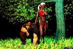 Heise junge elf schlampen in der roten bikini und harten krieger
